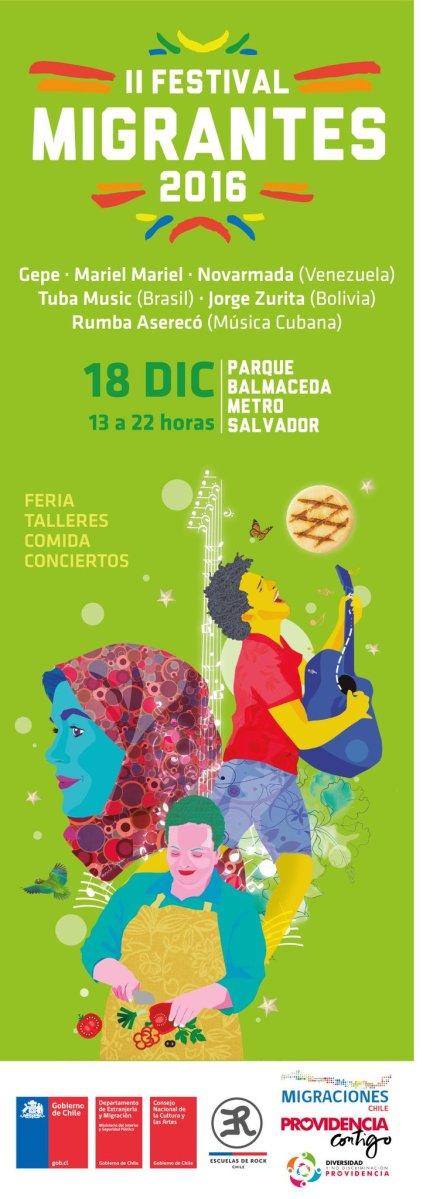domingo 18 de diciembre de 2016: II FESTIVAL MIGRANTES #providencia